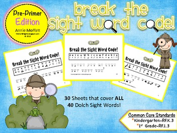 Break the Sight Word Code Pre-Primer