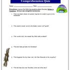 Bridge to Terabithia Comprehension 6 Question Quiz and Answer Key