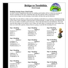 Bridge to Terabithia Spelling Vocabulary Word Study Activi