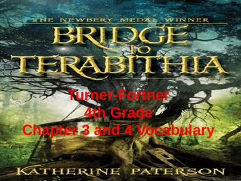 Bridge to Terabitia Vocabulary Chapter 3 and 4