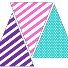 Bright Banner Pennants Stripes &amp; Polka Dots
