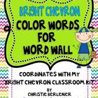 Bright Chevron Color Words for Word Wall