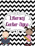 "Bright Chevron Literacy Centers ""I Can"" Printable Posters"