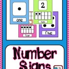 Bright Chevron Number and Ten Frame Posters