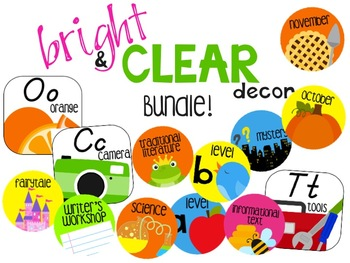 Bright & Clear Decor Bundle (D'Nealian Alphabet Edition)