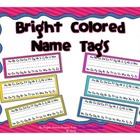 Bright Colored Name Tags FREEBIE!
