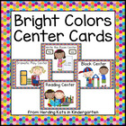 Bright Colors Pocket Chart  Center Cards