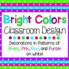 Bright Colors on White - Classroom Theme