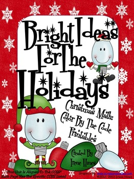 Bright Ideas For The Holidays ~ Christmas Math Color By The Code Puzzles