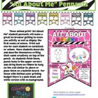 "Bright Jungle Theme ""All About Me"" Class Pennants"