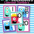Bright Monsters Calendar Numbers
