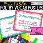 Bright Poetry Vocabulary Poster Pack