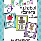 Bright Polka Dot Alphabet Posters