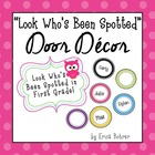 Bright Polka Dot Door Decor - Editable