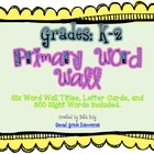 Bright Primary Word Wall