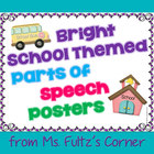 Bright School Parts of Speech Posters