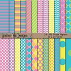 Bright Spring Colors Digital Paper Mega Pack