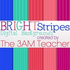 Bright Stripes Digital Backgrounds