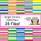 Bright Stripes Digital Papers Set: Graphics for Teachers