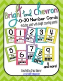 Bright Tonal Chevron Number Signs {with counting points}