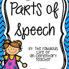 Parts of Speech Display Posters {Freebie!}