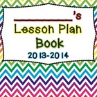 Bright and Colorful Teacher Lesson Plan Book