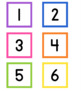 Bright and Simple Calendar Numbers