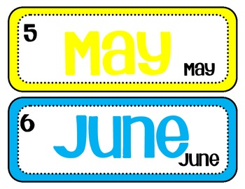 Bright month labels