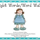 Brightly Colored Sight Words/Word Walls - Set 1