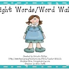 Brightly Colored Sight Words/Word Walls - Set 2