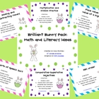 Brilliant Bunny Pack (Math and Literacy Ideas)