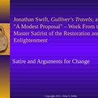 British Literature: Jonathan Swift, Gulliver&#039;s Travels, &amp; 