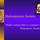 British Literature: Shakespearean Sonnet Form and Modeling