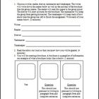 Brochure Activity Template and Rubric