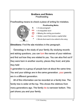 Brothers and Sisters activity packet