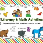 Brown Bear, Brown Bear {Literacy & Math Activities}