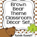 Brown Bear, Brown Bear Theme Classroom Decor Set