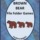 Preschool Brown Bear Brown Bear File Folder Games
