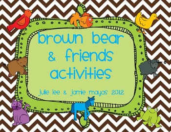 Brown Bear & Friends Activities