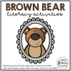 Brown Bear Literacy Pack