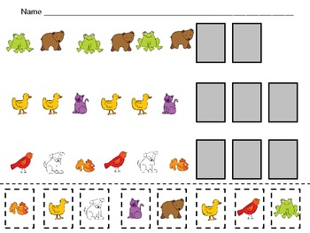 Brown Bear Pattern Independent Practice for Kindergarten-