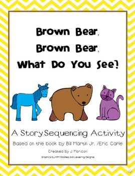 Brown Bear Story Sequencing Activity Cards