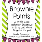 Brownie Points-A Whole Class Behavior Incentive in Lime an