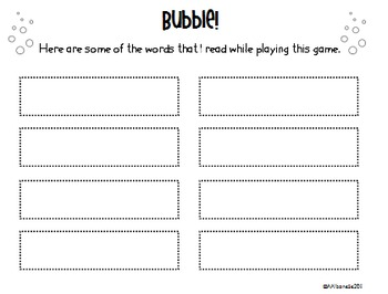 Bubble! - A sight word game!
