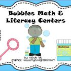 Bubbles Math and Literacy Centers