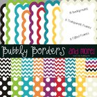 Bubbly Over the Rainbow Kit~ Chevron & Polka Dots Backgrou