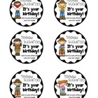 Buckaroo Birthday Tags