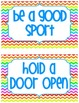 Bucket Filler Bulletin Board Pack in Bright Chevron