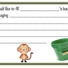 Bucket filler form - monkey theme