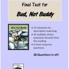 Bud Not Buddy Complete Final Test